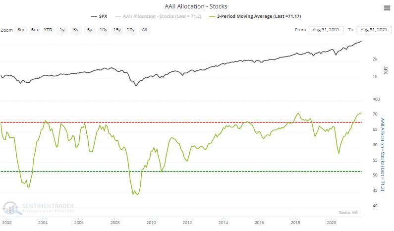 aaii stock allocation